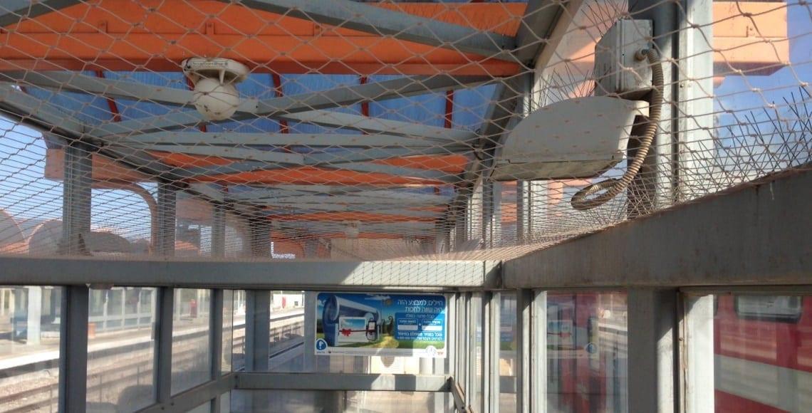 התקנה משולבת של פתרונות מקצועיים להרחקת ציפורים בתחנה רכבת ישראל